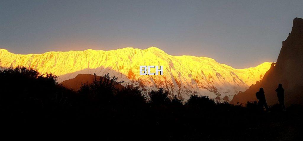 sunrise at Annapurna Base Camp