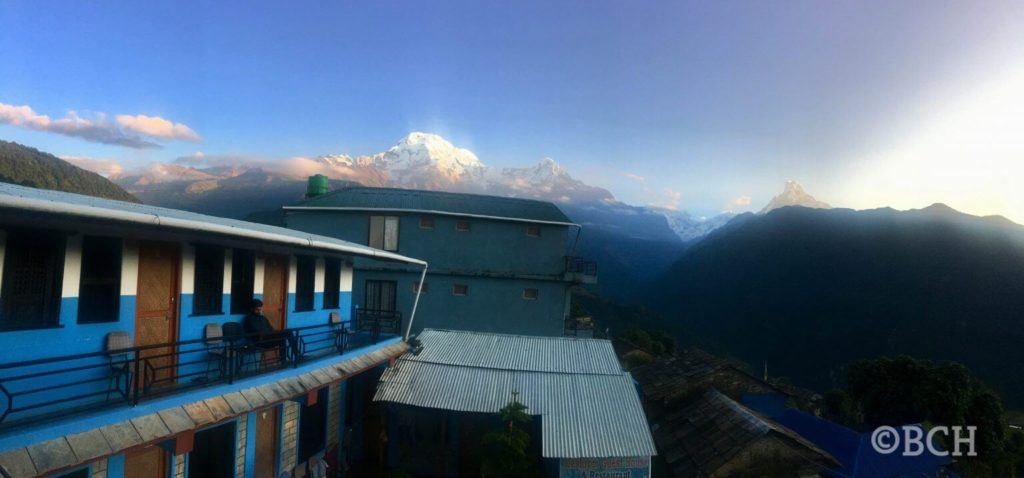 view of Annapurna Panorama from Ghandruk