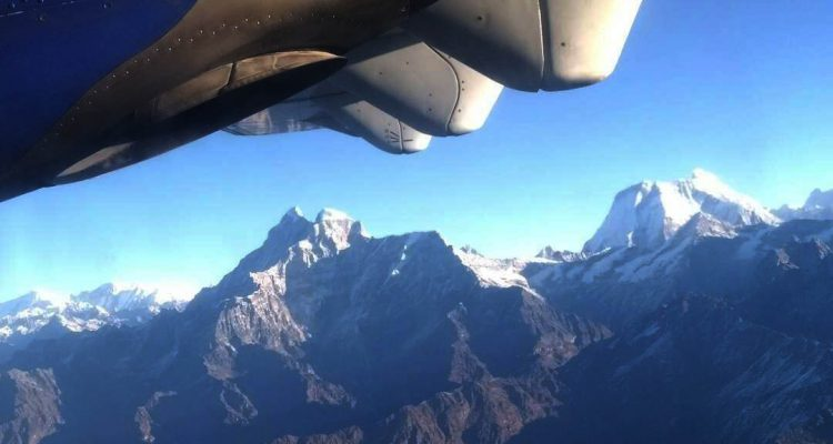Everest mountain flight in Nepal