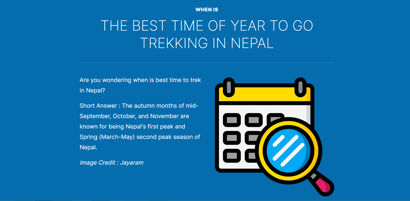When is best time of year for trekking in Nepal